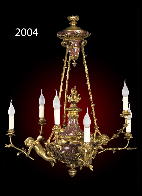 [#2004] Marble & Doll - رخام بالعرائس Weight : 28 kg | Height : 90 cm | Diameter : 60 cm Lamps : 6 | Arms : 6 Unit Price : 0 L.E.